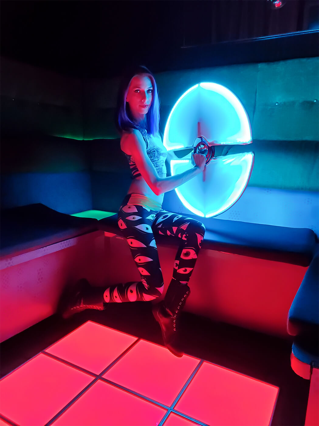Miss Twisted Rose LED Fans