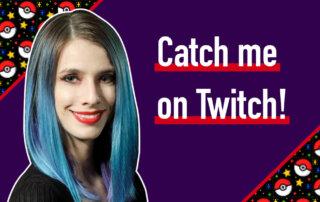 catch me on Twitch pokeballs